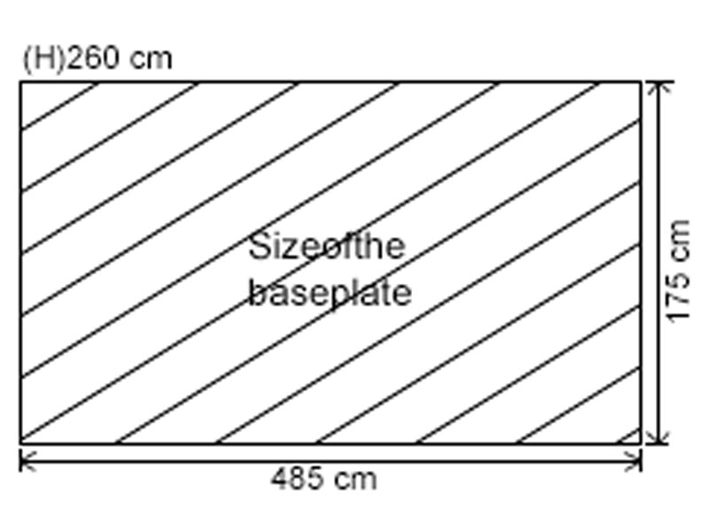 Graphic of base plate-485cm x 175cm